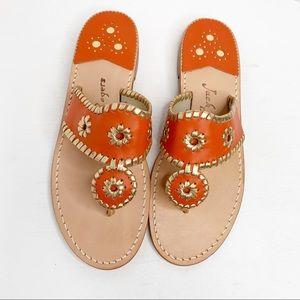 Jack Rogers Nantucket Gold Thong Sandals